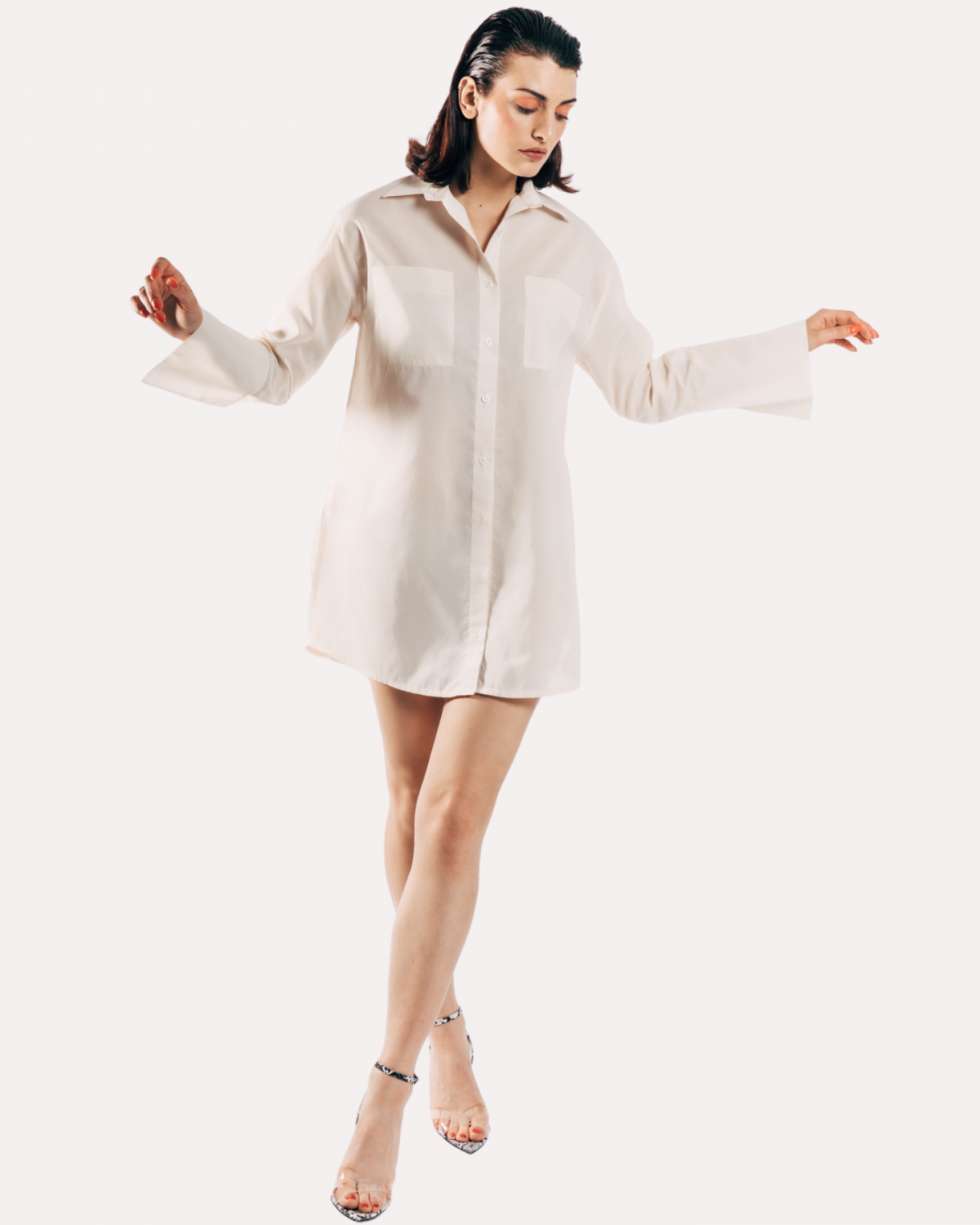 Robe chemise femme off white marque zwitter made in france